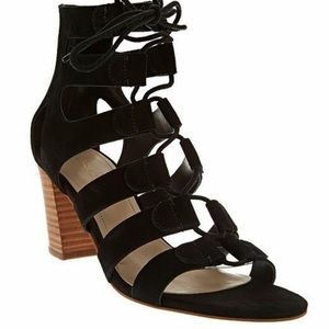 NEW Marc Fisher Suede Lace-up Block Heel Paradox